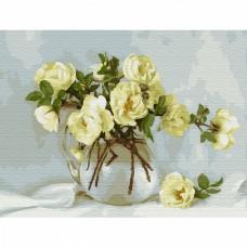 Картина по номерам с цветной схемой на холсте Molly KK0658 Бузин. Майский букет (20 цветов) 30х40 см