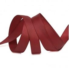 Лента Ideal репсовая в рубчик шир.12мм цв. 260 бордовый уп.27,42м