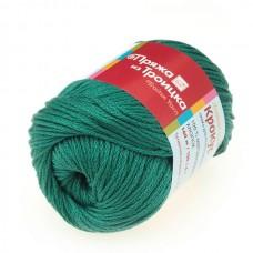 Пряжа для вязания ТРО Крокус (100% мерсеризованный хлопок) 5х100г/160м цв.2286 зеленый луг