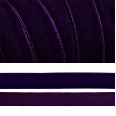Лента бархатная TBY.LB2059 нейлон шир.20мм цв.т.фиолетовый уп.20м