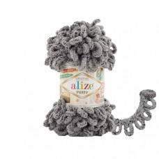 Пряжа для вязания Ализе Puffy (100% микрополиэстер) 5х100г/9.5м цв.535 коала