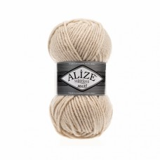 Пряжа для вязания Ализе Superlana maxi (25% шерсть, 75% акрил) 5х100г/100м цв.310 шампань