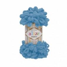 Пряжа для вязания Ализе Puffy (100% микрополиэстер) 5х100г/9.5м цв.016 голубой Сочи