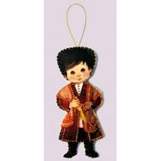 Наборы для вышивания декоративных игрушек BUTTERFLY  F084 Кукла. Грузия - М
