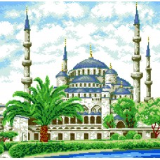 Набор для изготовления картин АЛМАЗНАЯ ЖИВОПИСЬ АЖ.1004 Мечеть 47х46,3см