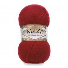 Пряжа для вязания Ализе Angora Gold (20% шерсть, 80% акрил) 5х100г/550м цв.106 красный
