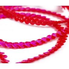 Пайетки на нитях 6мм Cream Colour TBY-FLKU06-CC цв.0096 красный уп.73.12м