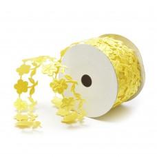 Ленты декоративные TBY.ЛДФ.XL-15.4 шир.28 мм цв.17 желтый уп.9,14 м