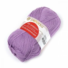 Пряжа для вязания ПЕХ Всесезонная (25% шерсть, 30% хлопок, 45%акрил) 5х100г/320м цв.389 св.фиалка