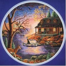 Набор для вышивания Classic Design 4450 Осенний вечер 35х35 см