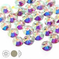 Стразы холодной фиксации Xirius 8+8 граней SS16 (3,8-4,0 мм) NH16-02.100 цв.Crystal AB, уп.100шт