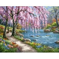 Алмазная мозаика на холсте ГРАННИ Ag1003 Весна 48х38см
