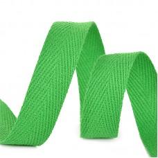 Тесьма киперная 15 мм хлопок 2,5г/см TBY.CT15239 цв.F239 зеленый уп.50м