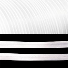 Косая бейка TBY атласная шир.15мм цв.F101 белый уп.132 м