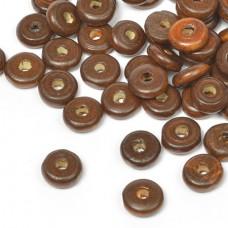 Бусины деревянные MAGIC HOBBY MG-B 482 цв.1 т.коричневый уп.40г 4х10мм, in ?2 мм 210±3 шт