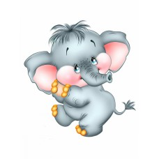 Картины по номерам Molly KH1019 Милый слоник 20х20 см