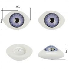 Глаза круглые выпуклые цветные TBY 14мм цв.фиолетовый уп.10шт