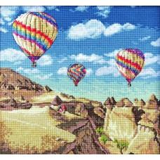 Набор для вышивания LETI  961 Воздушные шары над Гранд-Каньоном 23,5х25 см