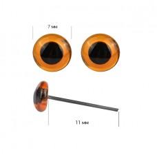 Глаза стеклянные 7мм TBY цв.коричневый уп.200шт