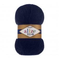 Пряжа для вязания Ализе Angora Real 40 (40% шерсть, 60% акрил) 5х100г/480м цв.058 т.синий