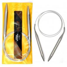 Спицы для вязания круговые Maxwell Gold, металлические на тросике 120-100 ?10,0 мм /120 см