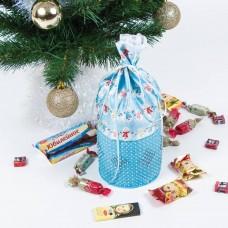 Набор для шитья и вышивания мешочек МП-8433 Новогодний сюрприз 13х33 см