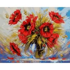 Картины по номерам Яркие маки GX8839 40х50 тм Цветной