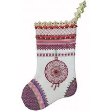 Набор для шитья и вышивания носочек МП-19х30- 8222 Сочельник