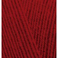 Пряжа для вязания Ализе LanaGold Fine (49% шерсть, 51% акрил) 5х100г/390м цв.056 красный