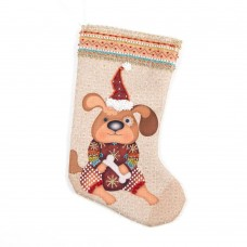 Набор для шитья и вышивания носочек МП-8425 Снежный пес 19х30 см