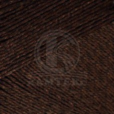 Пряжа для вязания КАМТ Мотылек (70% хлопок, 30% лавсан) 5х50г/140м цв.063 шоколад