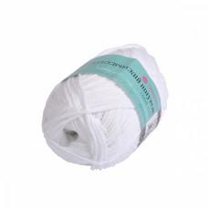 Пряжа для вязания ПЕХ Классический шнурок (60% хлопок, 40% акрил) 5х50г/135м цв.001 белый