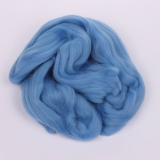 Шерсть для валяния ПЕХОРКА тонкая шерсть (100%меринос.шерсть) 50г цв.015 т.голубой
