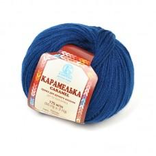 Пряжа для вязания КАМТ Карамелька (100% акрил) 10х50г/175м цв.140 лазурь темн