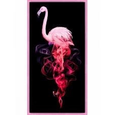 Набор для изготовления картин АЛМАЗНАЯ ЖИВОПИСЬ АЖ.1829 «Фламинго в дыму» 30х60 см