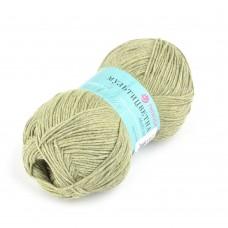 Пряжа для вязания ПЕХ Мультицветная (65% полиэстер, 35% хлопок) 5х50г/180м цв.494 св.хаки