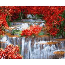 Картины по номерам Molly KH0818 Водопад (23 цвета) 40х50 см