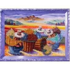 Набор  для вышивания бисером КОЛОР КИТ КК.VS011 Цветочницы 30х40 см