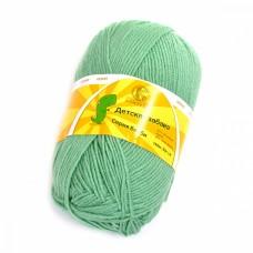 Пряжа для вязания КАМТ Детская забава (20% микрофибра, 80% объемный акрил) 10х50г/140м цв.020 эвкалипт
