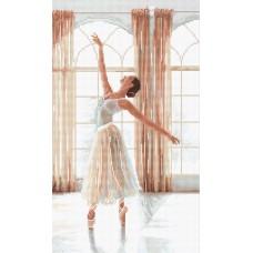 Набор для вышивания LETI  906 Балерина 32х19 см