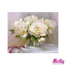 Картины по номерам Molly KH0614 Бузин. Нежные пионы (28 цветов) 40х50 см