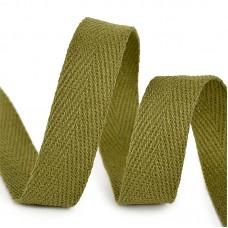 Тесьма киперная 15 мм хлопок 2,5г/см TBY.CT15264 цв.F264 зеленый уп.50м