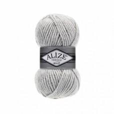 Пряжа для вязания Ализе Superlana maxi (25% шерсть, 75% акрил) 5х100г/100м цв.208 св.серый меланж