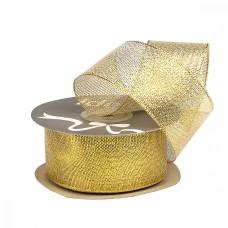 Лента IDEAL с люрексом ТВ-ЛЮР шир.38мм цв.золото уп.22,85 м