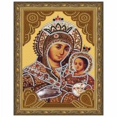 Картина 5D мозаика с нанесенной рамкой Molly KM0713 Вифлеемская Божия Матерь (15 цветов) 20х30 см