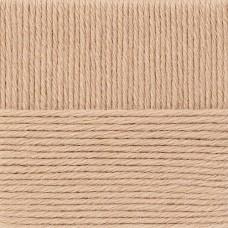 Пряжа для вязания ПЕХ Деревенская (100% полугрубая шерсть) 10х100г/250м цв.124 песочный