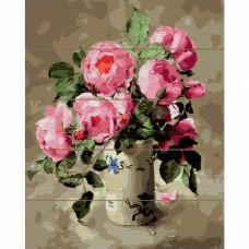 Картины по номерам на дереве Molly KD0722 Розовый букет 40х50 см