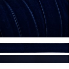 Лента бархатная TBY.LB1554 нейлон шир.15мм цв.т.синий уп.20м
