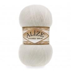 Пряжа для вязания Ализе Angora Gold (20% шерсть, 80% акрил) 5х100г/550м цв.450 жемчужный