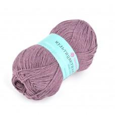 Пряжа для вязания ПЕХ Мультицветная (65% полиэстер, 35% хлопок) 5х50г/180м цв.410 сиреневый туман